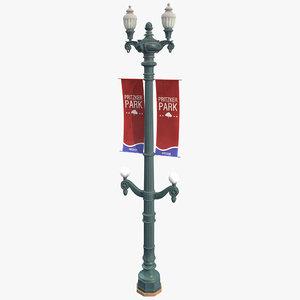 3D model main street lamp