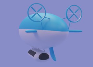 3D model airship ship air