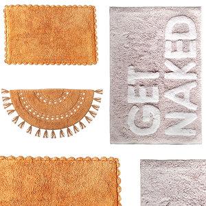 3D bath rugs pack 1