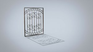 window lattice 3D model
