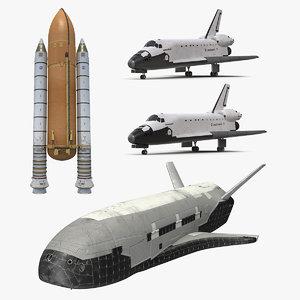 space shuttles 3 model