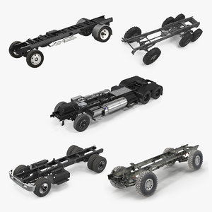 3D truck chassis 2