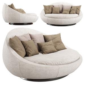 sofa lacoon island 3D model
