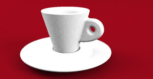 real coffee cup 3D