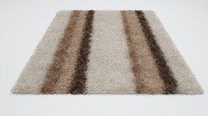 fur carpet rug 3D model