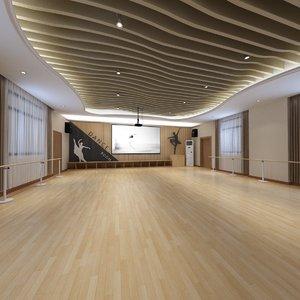 3D concept dance room model