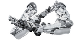 3D hand mechanical robotic model