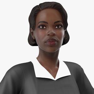 dark skin judge woman rigged 3D