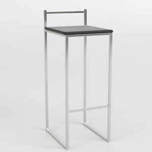 bar stool 2 3d 3ds