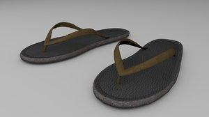 flip flops slippers 3D model