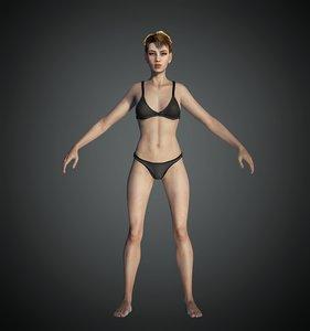 3D base female character model