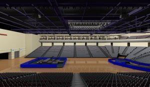 3D basketball arena