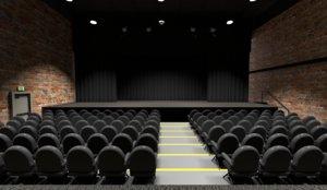 3D model scene theater