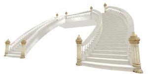 classical staircase interior 3D model