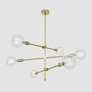 chandelier modern interiors 3D