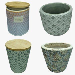 decoration vase pot 3D model