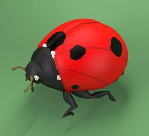 ladybug coccinellidae 3D model