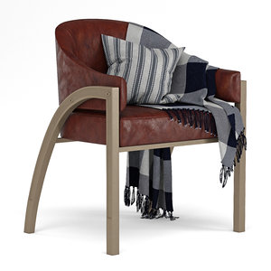 architects caracole chair 3D model