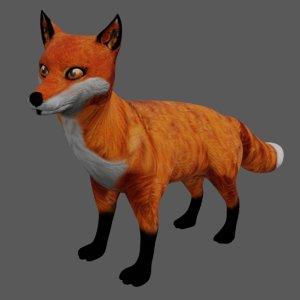 3D model fox red