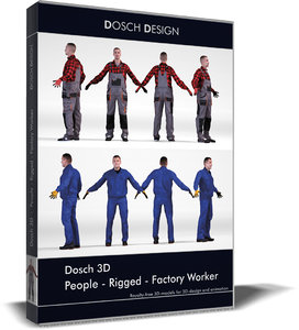 3D dosch people - rigged