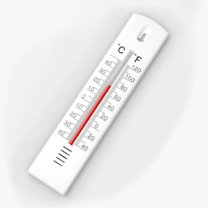3D model wall thermometer
