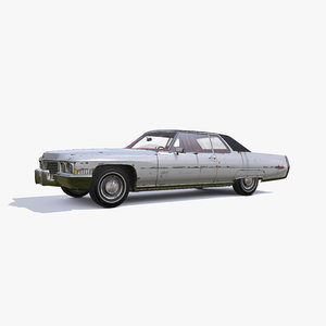 3D model 1972 cadillac coupe