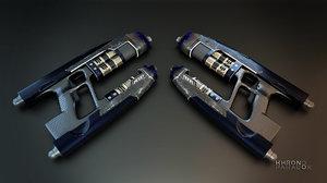 starlord blasters 3D model
