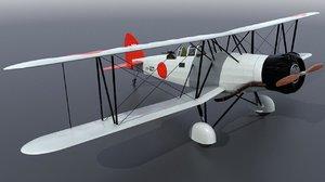3D akagi yokosuka b4y bomber model