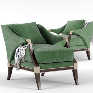 3D empess caracole chair model