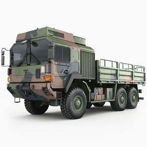 3D man hx61 trucks military model
