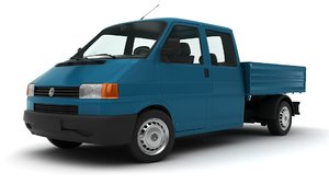 classic volkswagen transporter pick 3D