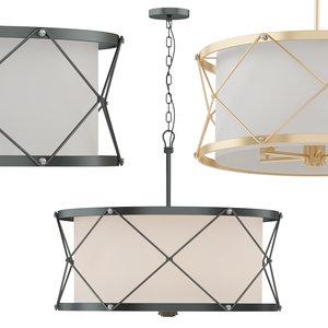 tied cage drum chandelier model