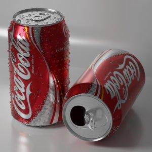 3D model cans drops