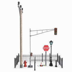 object street elements 3D model