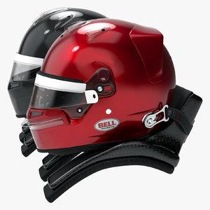 bell style racing helmet 3D model