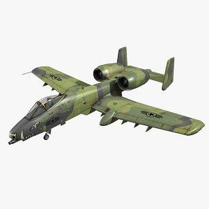 a-10a fighter plane 3D model