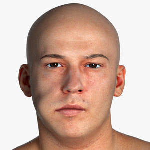 real pbr marcus human head 3D
