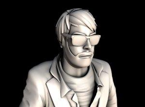 3D man male guy human boy