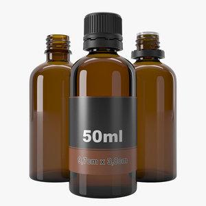 50ml bottle 3D model