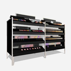 3D retail make-up display