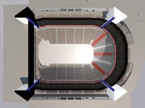 3D arena stadium