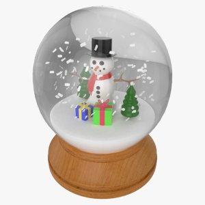3D snow globe snowman decoration