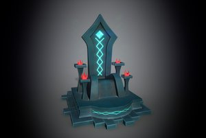 3D throne furniture chair