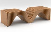 Parametric wooden bench
