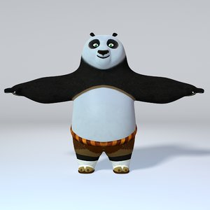 kung fu panda rigged 3D model