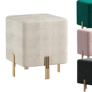 3D model stool burnett
