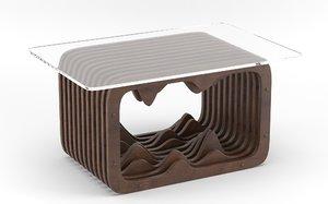parametric wooden 3D model