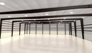 hangar aircraft airport 3D