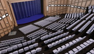 3D theater interior stage model