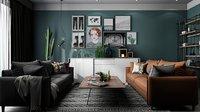 Living room model 3D